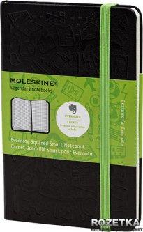 Записная книга Moleskine Evernote 9 х 14 см 192 страницы в клетку Черная (9788866137627)