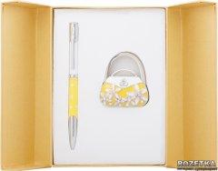 Набор подарочный (ручка шариковая + крючок для сумки) Langres Sense Желтый (LS.122031-08)