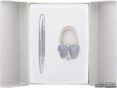 Набор подарочный (ручка шариковая + крючок для сумки) Langres Lightness Серый (LS.122030-09)