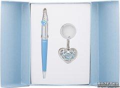 Набор подарочный (ручка шариковая + брелок) Langres Miracle Синий (LS.122026-02)