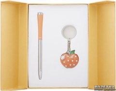 Набор подарочный (ручка шариковая + брелок) Langres Apple Оранжевый (LS.122024-11)