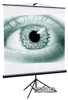 Экран Redleaf Popular мобильный напольный (1:1) 127 x 127 (SRM-1103) Black Case