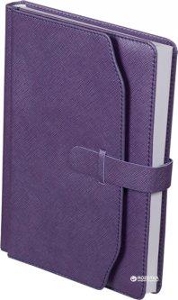 Ежедневник недатированный Buromax Credo А5 из искусственной кожи на 288 страниц Фиолетовый (BM.2017-07)