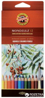 Карандаши цветные акварельные Koh-i-Noor Mondeluz 12 цветов (3716)