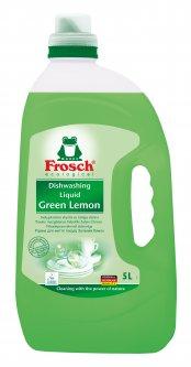 Средство для мытья посуды Frosch Зеленый лимон 5 л (4001499115585/4009175956156)