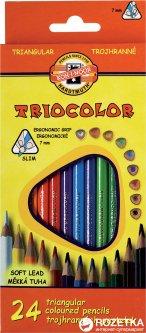 Карандаши цветные Koh-i-Noor Triocolor 24 цвета (3134)