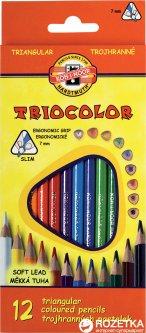 Карандаши цветные Koh-i-Noor Triocolor 12 цветов (3132)