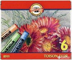 Мел-пастель сухая Koh-i-Noor Toison D'or 6 цветов (8511)