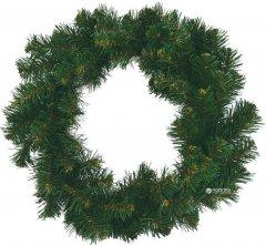 Венок Новогодько (YES! Fun) d-35 см Рождественский плетенный Зеленый ПВХ (4820178390378)