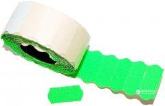 Этикет-лента Aurika 26х12 мм 1000 этикеток фигурная 25 шт Green (2612G)