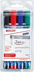 Набор маркеров для флипчартов 4 шт Edding Flipchart E-380/04 1.5-3 мм (e-380/4/BL)