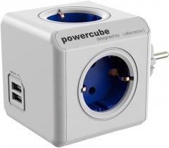 Сетевой разветвитель Allocacoc Powercube Original с заземлением 4 розетки USB (1202BL/DEOUP)
