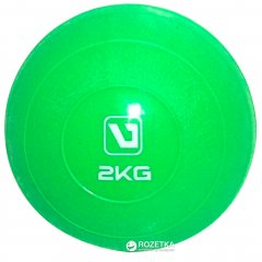 Медбол LiveUp Soft Weight 2 кг Green (LS3003-2)