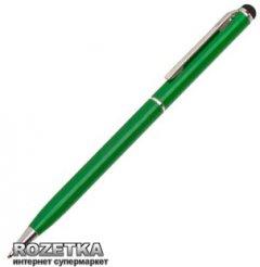 Стилус Value с шариковой ручкой для емкостных экранов Зелёный (S0532)