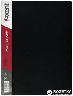 Папка пластиковая Axent А4 60 файлов Черная (1060-01-А)