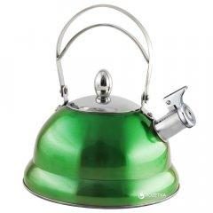 Чайник Lora NS11KET со свистком 3 л Зеленый (H11-006)