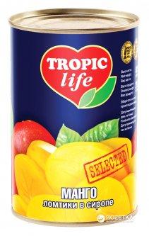 Манго ломтиками в сиропе Tropic Life 425 г (4820086920964 / 5060162900759)