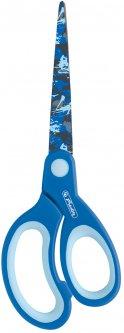 Ножницы детские Herlitz 17 см с резиновыми вставками Синие (10801728B)