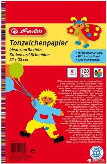 Цветной картон двусторонний Herlitz A4 120 г/м2 20 листов 10 цветов (229401)