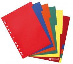 Пластиковые цветные разделители Herlitz А4 5 цветов 10 шт (10715415)