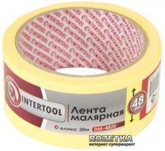 Малярная лента Intertool 48 мм x 20 м Желтая (DM-4820)