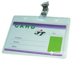 Набор бейджей Agent CD-108 D горизонтальные + клип-подвес 100 шт 105х65 мм Прозрачные (6917201118158)
