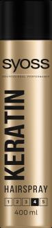 Лак для волос SYOSS Keratin (фиксация 4) 400 мл (5201143155182)