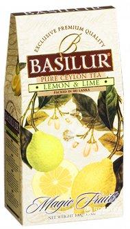 Чай черный рассыпной Basilur Magic Fruits Лимон и лайм 100 г (4792252100381)
