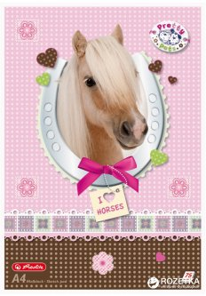 Альбом для рисования Herlitz Pretty Pets Horse A4 75 листов (10089019H)