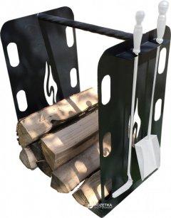 Стойка для дров UaStal Hi-Tech Черная (2020000910428)