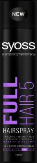 Лак для волос SYOSS Full Hair (фиксация 5) 400 мл (5201143726658)