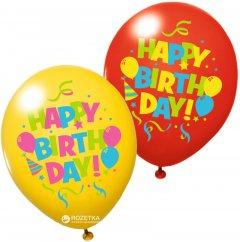 Воздушные шары Susy Card Happy Birthday 6 шт 30 см Ассорти (40012025)