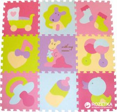 Детский развивающий коврик-пазл Baby Great Маленький кенгуренок 92х92 см (GB-M129KB)