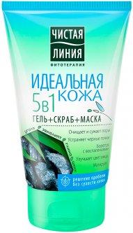 Средство для лица Чистая Линия Идеальная кожа 5 в 1 Маска-скраб 120 мл (4600702096026)