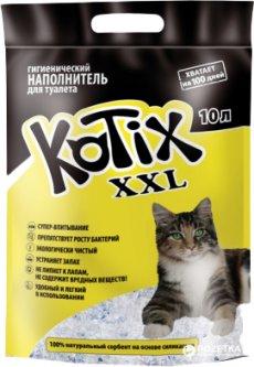 Наполнитель для кошачьего туалета Kotix XXL Силикагелевый впитывающий 4.5 кг (10 л)(6930095837608)