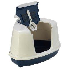 Туалет для кошек Moderna Flip Cornerдля кошек 56х45х39 см Темно-синий (5412087009756)