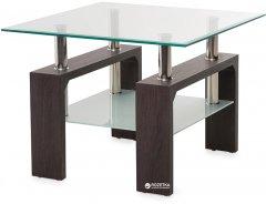 Стеклянный журнальный стол Vetro Mebel С-106 Венге (С-106-ve)