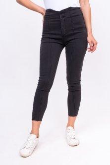 Стильні стрейчеві джинси - сірий колір, L