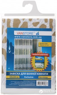 Занавеска для ванной Vanstore Exclusive 61011 180х200