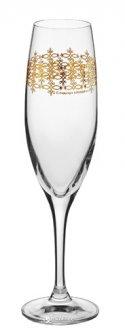 Набор бокалов для шампанского Krosno Deco Line Barocco 200 мл 6 шт (F578235020008600)