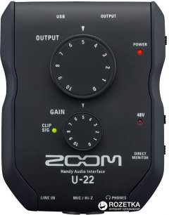 Аудиоинтерфейс Zoom U-22 USB (283 507)