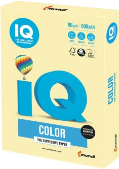 Бумага IQ Color YE23 Yellow светло - желтый А4 80г/м2 500 листов (9003974400211)