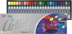 Пастель масляная Colorino Artist круглая в пластиковом контейнере 24 цвета (65719PTR)