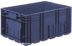Ящик пластиковый для металлических деталей iPlast R-KLT 600х400х280 мм Темно синий (12.505.61)