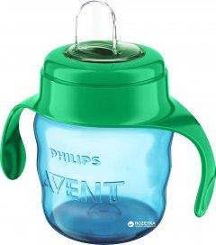 Чашка-непроливайка Philips AVENT с мягким носиком 200 мл 6 мес+ Cине-зеленая (SCF551/05_blue_green)
