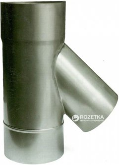 Дымоход Canada 45° ø120 мм нержавеющая сталь 0.6 мм (120ТК45М304-06)