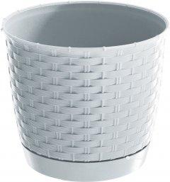 Вазон Prosperplast Ratolla с подставкой круглый 14.5 см Белый (70762-449)