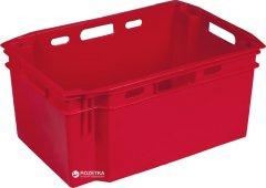 Ящик пластиковый сплошной Полимерцентр 600х400х270 мм Красный (N6427R-1-RD)