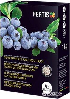 Удобрение для голубики и садовых ягод Fertis без хлора и нитратов 1 кг (10508716) 4779039690563