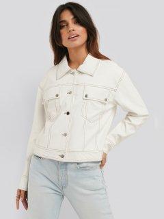 Куртка из искусственной кожи NA-KD 1100-002322-0260 36 Белая (88850000000111)